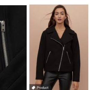 H&M Brushed Biker Jacket